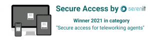 """Meet our winner in category """"Secure access for teleworking agents""""."""