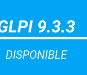GLPI 9.3.3 DISPONIBLE