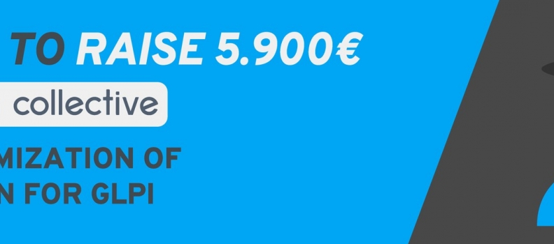 Help us to raise 5.900 euros for GLPI data anonymization plugin.