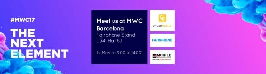 Teclib' and Fairphone at Mobile World Congress 2017