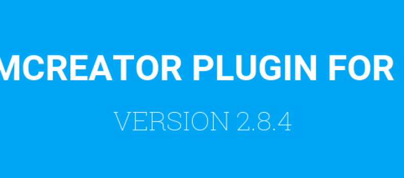 FORMCREATOR PLUGIN: LA VERSION 2.8.4 EST DISPONIBLE.