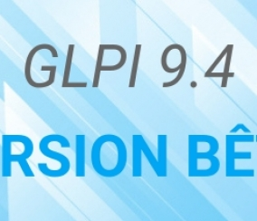 GLPI 9.4 version bêta.