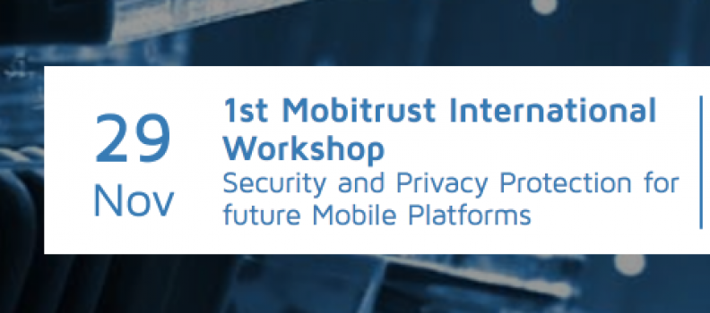Teclib' attending 1st Mobitrust International Workshop