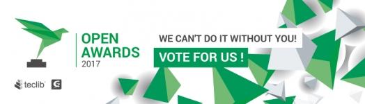 Vota para Teclib' y GLPI en los Open Awards 2017